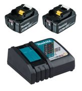 Makita 197490-7 Power Source-Kit 18V 4Ah 2x BL1840B + DC18RC in cardboard box
