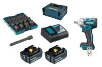 Makita DTW285RTJX 2x 5Ah battery + MAKPAC