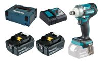 Makita DTW300RTJ 2x 5Ah battery + charger + MAKPAC