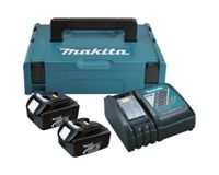 Makita Power Source-Kit 18V 3Ah 2x BL1830B + DC18RC + MAKPAC
