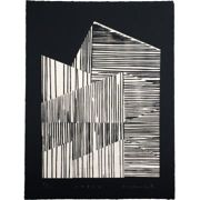 Mary Claire Smith - Layer Screen Print - Black/White