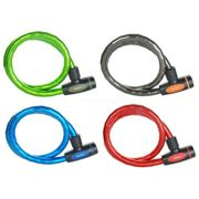 Masterlock 8228DPRO Armoured Cable Lock - Assorted Colours - 1m x 18mm Red