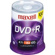Maxell DVD+R 4.7GB 16X Branded 100-Pack Spindle