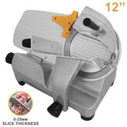 """Meat Slicer Electric Food Deli Cutter 12"""" Stainless Steel Machine"""