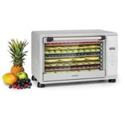 Mega Jerky Dehydrator 650W 35-80°C LC touch display timer 8 levels