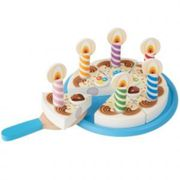 Melissa and Doug Birthday Cake Set, Blue,brown,green,orange,pink,purple,white