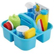 Melissa and Doug Cleaning Caddy Set, Blue,Brown,Green,Orange,Red,Yellow
