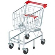 Melissa and Doug Shopping Trolley, Red,Silver