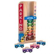 Melissa and Doug Stack and Count Parking Garage, Blue/brown/green