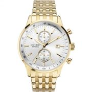 Mens Accurist Exclusive Gold Chronograph Watch