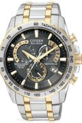 Mens Citizen Chrono Perpetual A-T Alarm Chronograph Radio Controlled Watch AT4004-52E