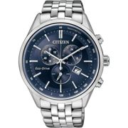 Mens Citizen Eco-drive Chronograph Wr100 Chronograph Stainless Steel Watch