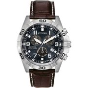 Mens Citizen Eco-drive Gents Perpetual Calendar Alarm Chronograph Stainless Steel Watch