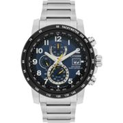 Mens Citizen Eco-drive H800 Sport Radio Controlled Chronograph Stainless Steel Watch