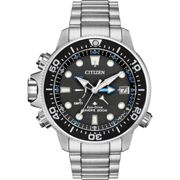 Mens Citizen Eco-drive Promaster Aqualand Wr200 Alarm Stainless Steel Watch