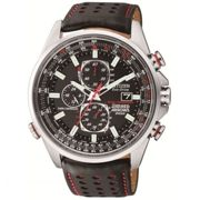 Mens Citizen Eco-drive Red Arrows A-T Radio Controlled Chronograph Stainless Steel Watch AT8060-09E
