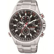 Mens Citizen Eco-drive Red Arrows A-T Radio Controlled Chronograph Stainless Steel Watch AT8060-50E