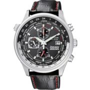 Mens Citizen Eco-drive Red Arrows World Time Chronograph Stainless Steel Watch CA0080-03E