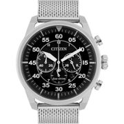 Mens Citizen Eco-drive Sport Bracelet Chronograph Stainless Steel Watch