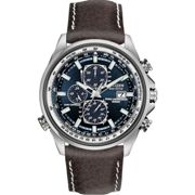 Mens Citizen Eco-drive World Chronograph A.T Radio Controlled Chronograph Stainless Steel Watch AT8021-01L
