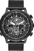 Mens Citizen Navihawk AT Alarm Chronograph Radio Controlled Watch JY8037-50E