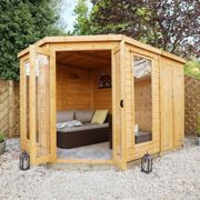 Mercia 11 x 7 Corner Summerhouse with Side Shed