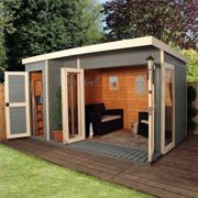 Mercia Mercia 12 x 8 Garden Room Summerhouse with Side Shed