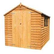 Mercia 8 X 6Ft Great Value Overlap Apex Shed With Windows And Double Doors One Colour