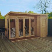 Mercia 12 X 8Ft Premium Garden Room Summerhouse With Side Shed March