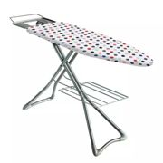 Minky Multicolour Ironing Board with 3 Free Accessories Silver