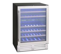 Montpellier WC46X 60cm Undercounter Dual Zone Wine Cooler - STAINLESS STEEL