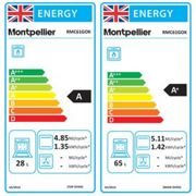 Montpellier RMC61GOK 60cm Gas Cooker in Black Double Oven A Energy Rat