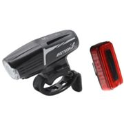 Moon Meteor X Auto Front & Arctur Rear Rechargeable Bike Light Set - 2019 - Black / Light Set / Rechargeable Black