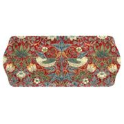 """Morris & Co for Pimpernel """"Strawberry Thief Sandwich Tray, Red"""