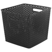 My style Weave Brown rattan effect 25L Plastic Storage basket (W)316mm