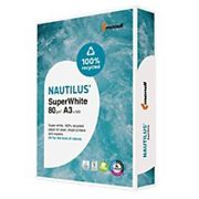 Nautilus 100% Recycled SuperWhite Paper A3 White 150 CIE 500 Sheets