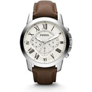 NEW FOSSIL Grant Chronograph Brown Leather Men's Watch FS4735 UK SELLER WARRANTY