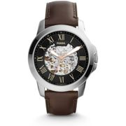 NEW Fossil ME3100 Men's Leather Automatic Analog Watch UK SELLER WARRANTY