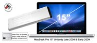NewerTech MacBook Pro 15-inch Laptop Battery for Unibody Late 2008 / Early 2009 Models