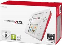 Nintendo 2DS Console, White/Red, Boxed