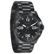 Nixon - All Black Stainless Steel Private SS Watch - steel | black - Black/Black