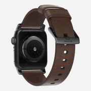Nomad Horween Leather Strap Modern for Apple Watch 1,2,3,4 - 44mm- 42mm - BROWN