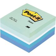 Post-it Neon Green/Blue Adhesive Note Cube 2028 NB