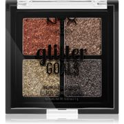 NYX Professional Makeup Glitter Goals Pressed Shimmer Palette Small Pack Shade 02 Galactica 4 x 1 g