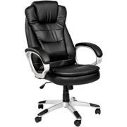 Office chair with double padding - black
