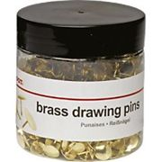 Office Depot Flat Drawing Pins Brass 10.5mm Pack of 750