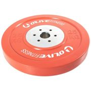 Olive Olympic Competition Bumper Plate 25 Kg 25 kg Red