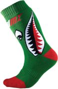 Oneal Pro MX Bomber Kids Motocross Socks, red-green