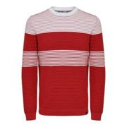 Only & Sons - Red Is Nykaa Striped Stretch Knit - L / RED