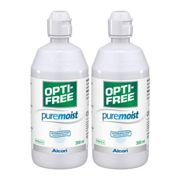 Opti-Free Puremoist Twin Pack (2*300ml), Alcon, Contact Lens Solution, Includes 2 Lens Cases